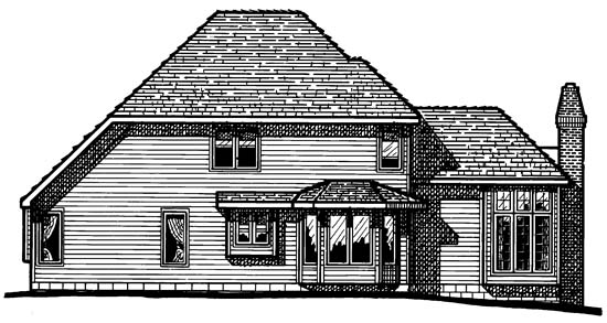House Plan 97453 | Farmhouse Victorian Style Plan with 2276 Sq Ft, 4 Bedrooms, 3 Bathrooms, 2 Car Garage Rear Elevation