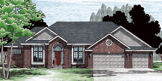 Traditional House Plan 97454 Elevation