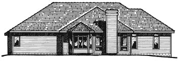 Traditional House Plan 97454 Rear Elevation