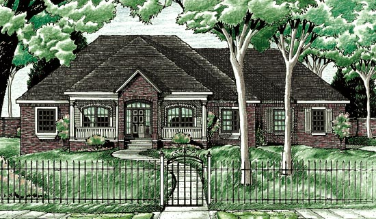 Traditional House Plan 97457 Elevation