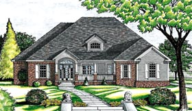 European House Plan 97458 Elevation
