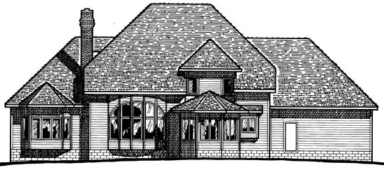 Colonial House Plan 97459 Rear Elevation