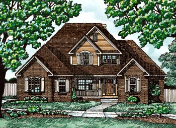 European House Plan 97461 Elevation