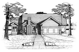 Ranch House Plan 97464 Elevation
