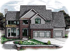 Country House Plan 97465 Elevation