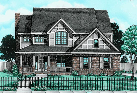 Bungalow, Country House Plan 97469 with 4 Beds, 3 Baths, 2 Car Garage Elevation