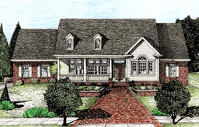 Cape Cod , Country House Plan 97470 with 3 Beds, 2 Baths, 3 Car Garage Elevation