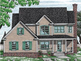 Country House Plan 97471 Elevation