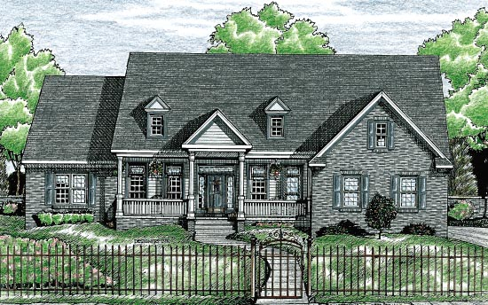 Cape Cod Country House Plan 97472 Elevation