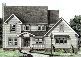 Country Farmhouse House Plan 97473 Elevation