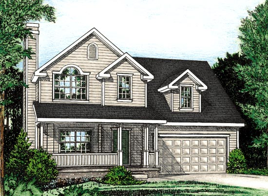 Country House Plan 97476 with 3 Beds, 3 Baths, 2 Car Garage Elevation