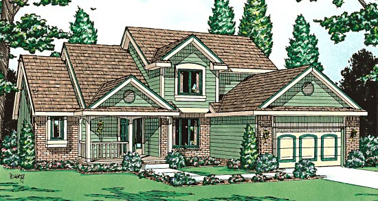 Country House Plan 97481 Elevation