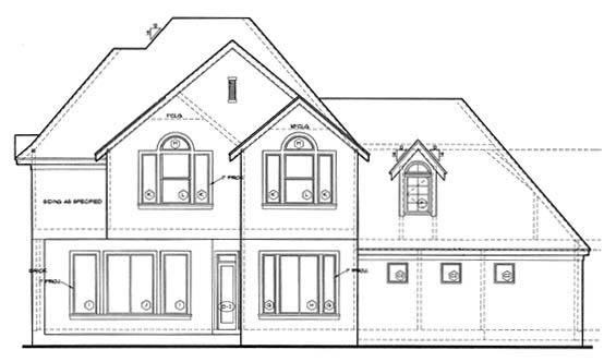 European House Plan 97483 Rear Elevation