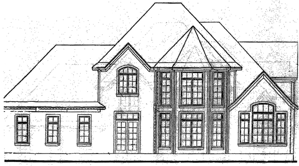 Tudor House Plan 97484 Rear Elevation
