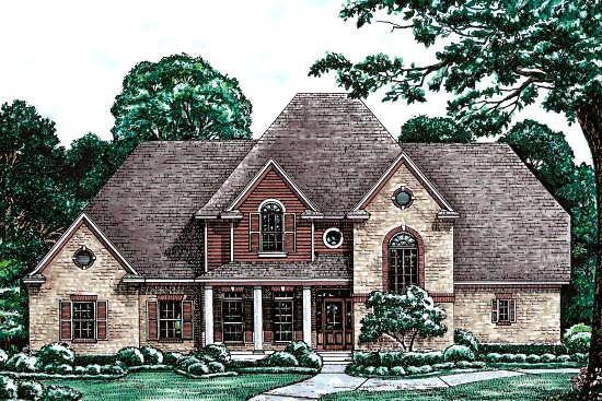 House Plan 97485 | Country European Victorian Style Plan with 3080 Sq Ft, 4 Bedrooms, 4 Bathrooms, 2 Car Garage Elevation