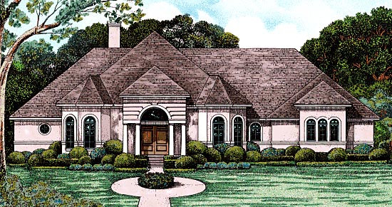 European Victorian House Plan 97486 Elevation