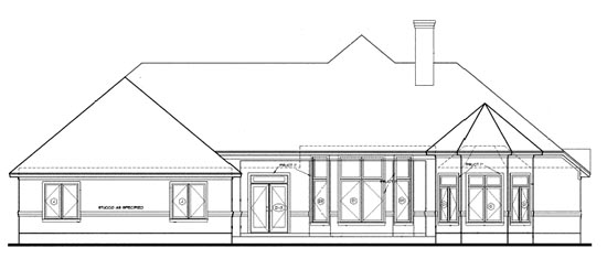 European Victorian House Plan 97486 Rear Elevation