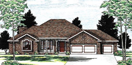 Traditional House Plan 97488 Elevation