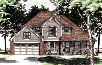 European, Traditional House Plan 97491 with 4 Beds, 3 Baths, 2 Car Garage Elevation