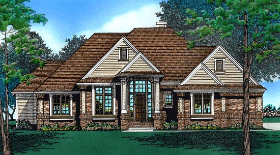 European House Plan 97494 Elevation