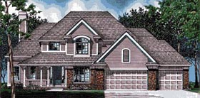 Country European House Plan 97496 Elevation