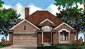 European House Plan 97497 Elevation