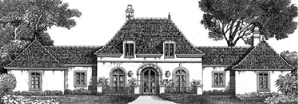 Colonial European House Plan 97513 Elevation