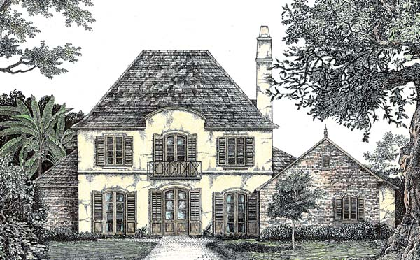 Colonial European House Plan 97515 Elevation