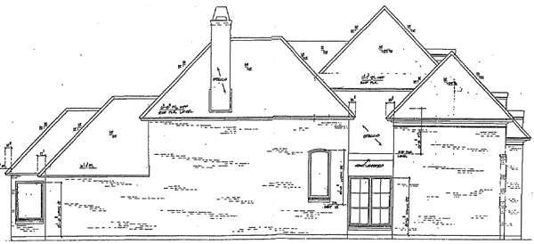 European Victorian House Plan 97516 Rear Elevation