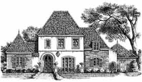 European House Plan 97522 with 4 Beds, 3 Baths, 2 Car Garage Elevation