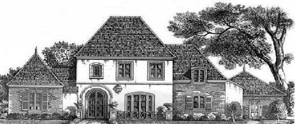 European House Plan 97522 Elevation