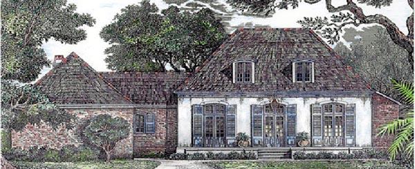 House Plan 97525 | European Style Plan with 3029 Sq Ft, 4 Bedrooms, 3 Bathrooms, 3 Car Garage Elevation