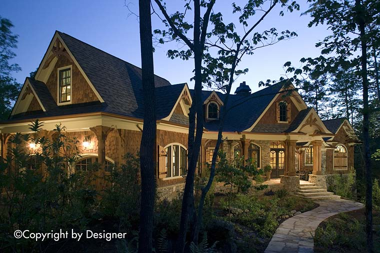 House Plan 97600 | Cottage Country Craftsman Southern Style Plan with 5662 Sq Ft, 4 Bedrooms, 5 Bathrooms, 3 Car Garage Elevation