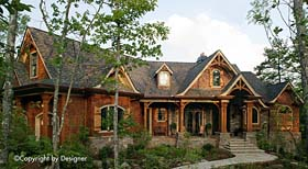 Cottage Country Craftsman French Country Southern Traditional House Plan 97603 Elevation