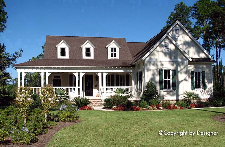 Country, Southern, Traditional, House Plan 97606 with 3 Beds, 3 Baths, 2 Car Garage Elevation