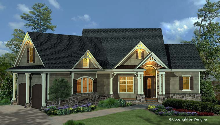 Cottage Craftsman European Southern Traditional House Plan 97609 Elevation