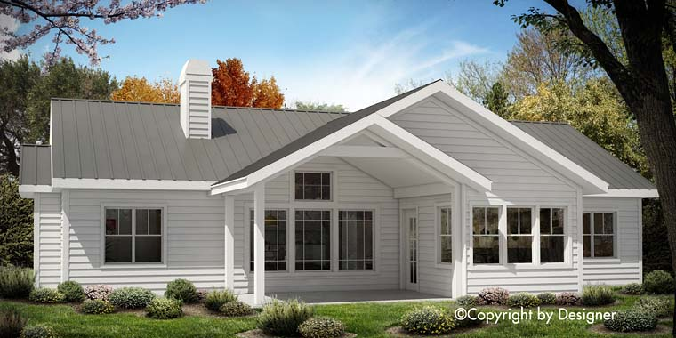 Country Ranch Southern Traditional House Plan 97610 Rear Elevation
