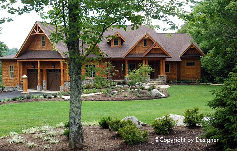 Cottage Country Craftsman Southern Traditional House Plan 97611 Elevation