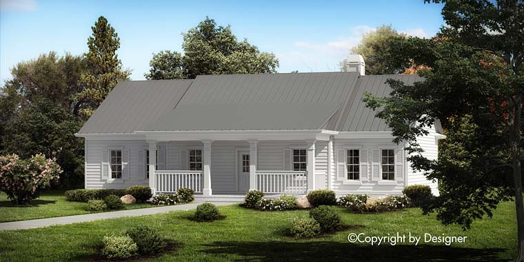 Ranch, Southern, Traditional House Plan 97612 with 3 Beds, 2 Baths Elevation