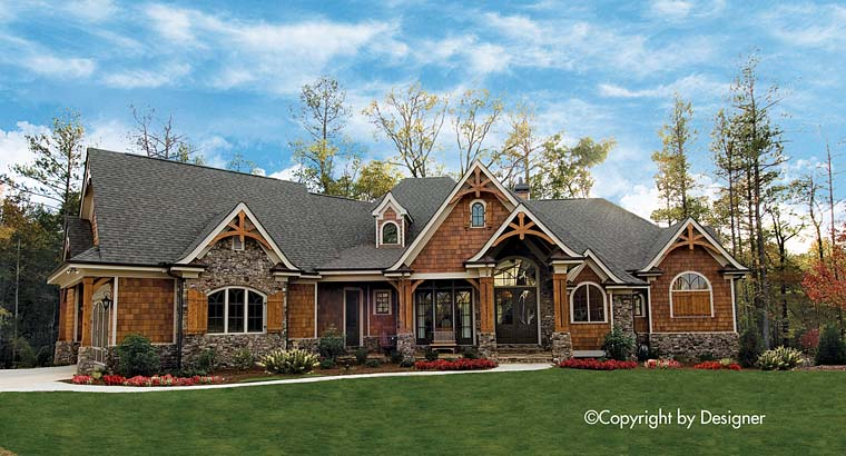 House Plan 97613 | Country Craftsman Southern Tudor Style Plan with 3126 Sq Ft, 3 Bedrooms, 3 Bathrooms, 2 Car Garage Elevation