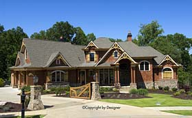 Country Craftsman Southern Traditional House Plan 97614 Elevation