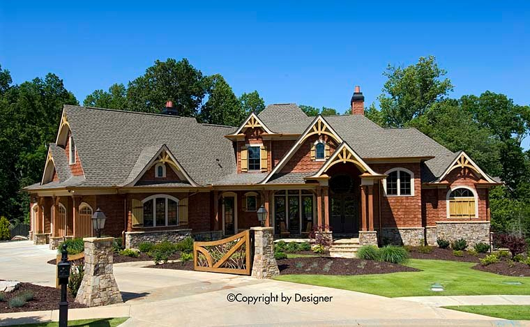 Country, Craftsman, Southern, Traditional House Plan 97614 with 6 Beds, 6 Baths, 3 Car Garage Elevation