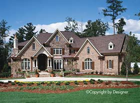 House Plan 97620 | Country Craftsman European Southern Traditional Style Plan with 3944 Sq Ft, 4 Bed, 5 Bath, 3 Car Garage Elevation