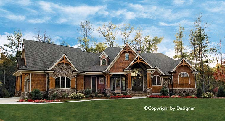 Country Craftsman Southern Traditional House Plan 97623 Elevation