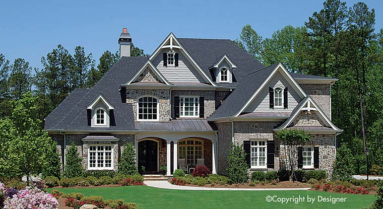 Traditional House Plan 97626 with 5 Beds, 5 Baths, 3 Car Garage Elevation