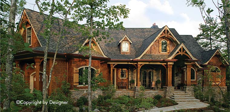Cottage Country Craftsman Traditional Elevation of Plan 97630