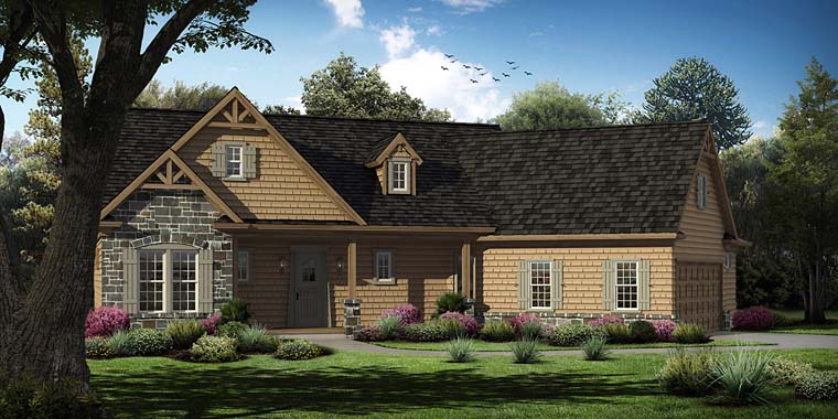Cottage Craftsman Southern Traditional House Plan 97631 Elevation