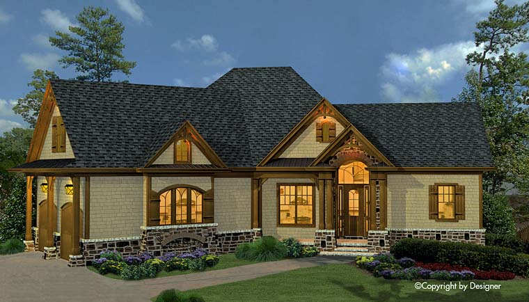 Cottage Country Craftsman French Country Traditional House Plan 97632 Elevation