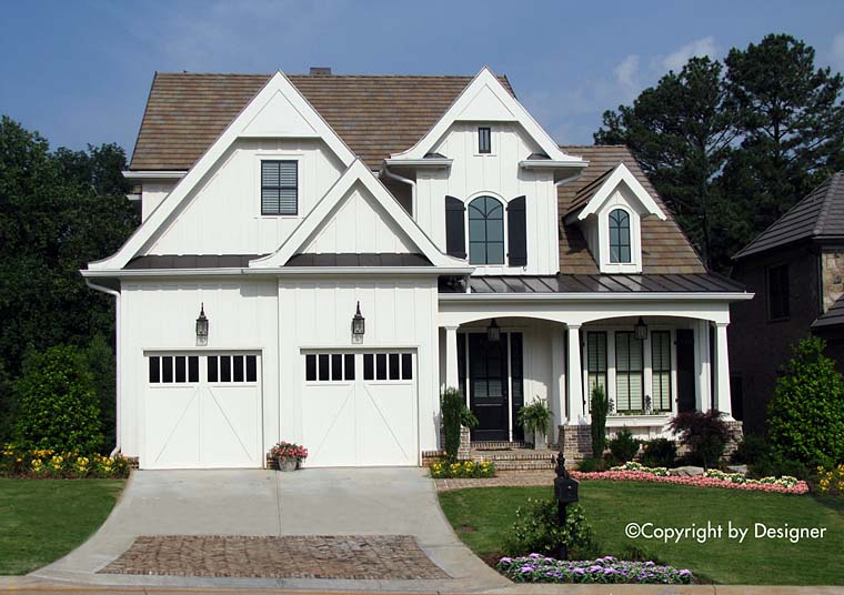 Tudor , Traditional , Southern House Plan 97633 with 3 Beds, 4 Baths Elevation