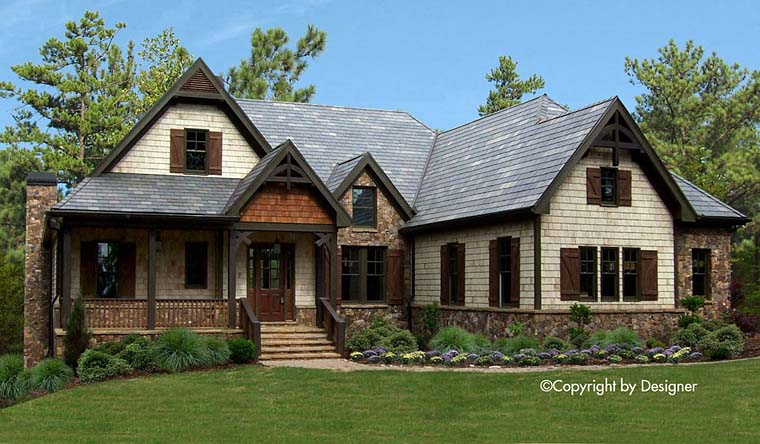 Bungalow Cottage Country Craftsman Southern Traditional Elevation of Plan 97634